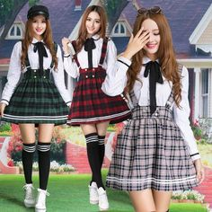 """Cute student uniform shirt + short skirt two-piece outfit - Use the code """"batty"""" at Sanrense for a 10% discount!"""