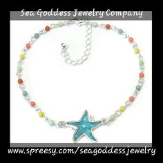 Beaded anklet with puffy colored beach themed beads. This anklet is 8in with a 2in extension to fit any size ankle comfortably.     Please note this is an anklet not a bracelet | Shop this product here: http://spreesy.com/seagoddessjewelry/167 | Shop all of our products at http://spreesy.com/seagoddessjewelry    | Pinterest selling powered by Spreesy.com