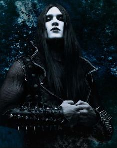 most goth guys look like they just love themselves...a lot...  What's wrong with that? Lol