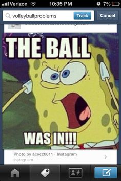 Volleyball problems   this made me laugh so much..... This is me.. I'm so bad at not yelling at the linesmen...