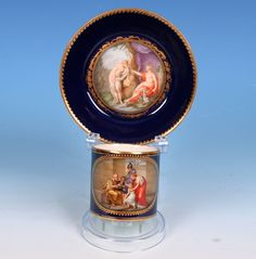Meissen Marcolini period cup and saucer
