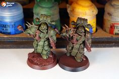 How to paint Death Guard armor