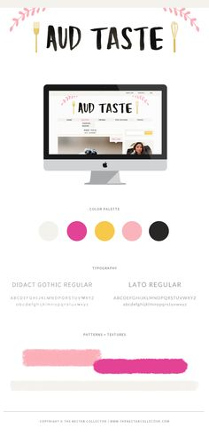 Colorful + Feminine Blog Design Project for Aud Taste - The Nectar Collective #design #branding