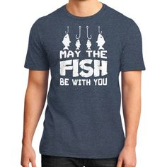 Be with me fish District T-Shirt (on man)