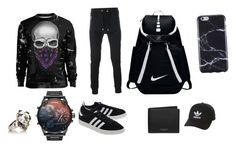 """""""Outfit"""" by brendonurielife on Polyvore featuring Balmain, adidas Originals, Alexander McQueen, NIKE, Michael Kors, FingerPrint Jewellry, men's fashion and menswear"""