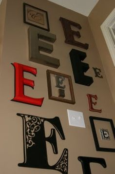 Find This Pin And More On Future Home Decor. Wall Of Letters, Last Name  Initial Part 72