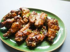 Crispy, oven-fried chicken wings soaked in Old Bay seasoning and lightly brushed with a spicy Worcestershire glaze. Author: Tekesha @ EatMor...