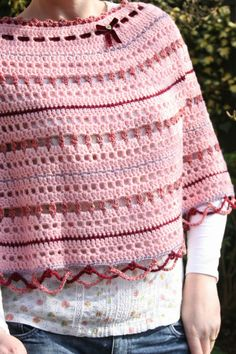 """Cherry Heart's """"Loopy Lou Poncho"""" - love the stitches!"""