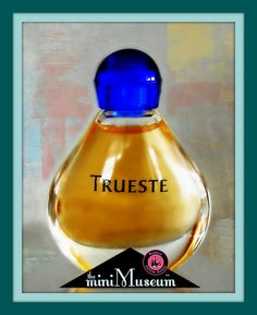 """TRUESTE miniature perfume bottle by Tiffany & Co. Launched 1995; 2.00"""" high. 