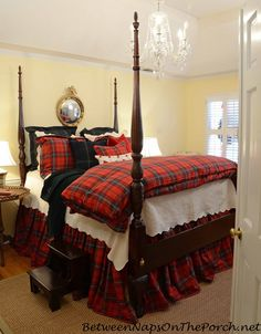 Ralph Lauren Inspired Tartan Plaid Bedroom