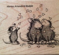 """NEW! HOUSE MOUSE by STAMPENDOUS """"Shower of Love"""" Wood Mounted Rubber Stamp #Stampendous"""