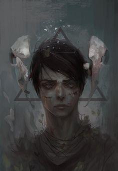 """Oʟᴀ́, ᴄʟɪϙᴜᴇ ᴇᴍ """"ᴠɪsɪᴛᴀʀ"""" ᴘᴀʀᴀ ᴀᴄᴏᴍᴘᴀɴʜᴀʀ ᴍᴀɪs ᴍᴇᴍᴇs, ɪᴍᴀɢᴇɴs ᴅᴇ ᴅɪᴠᴇʀsᴏs ᴛɪᴘᴏs ᴇ ᴇᴅɪᴄ̧ᴏ̃ᴇs ϙᴜᴇ ғᴀᴄ̧ᴏ. Dark Fantasy Art, Fantasy Artwork, Dark Art, Gothic Art, Boy Art, Pretty Art, Portrait Art, Aesthetic Art, Art Inspo"""