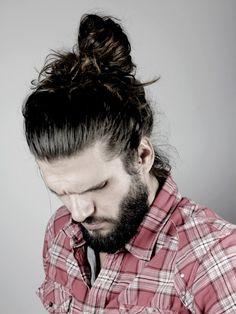 Man Bun, High on Head, Beard. Man Bun Hairstyles, My Hairstyle, Hair And Beard Styles, Long Hair Styles, Hair Flow, Beard Lover, Beard Tattoo, Facial Hair, Bearded Men