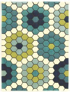 Scheidt Hand-Tufted Blue/Green Outdoor Area Rug