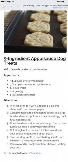 5 ingredients to avoid putting in your homemade dog cookies Puppy Treats, Diy Dog Treats, Homemade Dog Treats, Healthy Dog Treats, Dog Biscuit Recipes, Dog Treat Recipes, Dog Food Recipes, Doggy Treats Recipe, Snacks