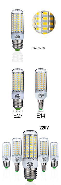 E27 LED Bulb E14 LED Lamp SMD5730 220V 230V Corn Bulb 24 36 48 56 69 72LEDs LED Light Chandelier Lighting  For Home Decoration