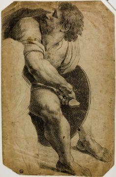 after Raffaello Sanzio, called Raphael Italian, 1483-1520, Guard Drawing His Sword