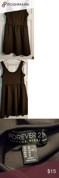 Forever 21 plus  fit and flare XL Black fit and flare forever 21 plus Forever 21 Dresses Mini