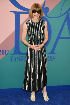 Anna Wintour attends the 2017 CFDA Fashion Awards at Hammerstein Ballroom on June 5, 2017 in New York City. (Photo by Dimitrios Kambouris/Getty Images)  via @AOL_Lifestyle Read more: https://www.aol.com/article/lifestyle/2017/06/06/meg-ryan-stuns-sequins-cfda-awards/22129089/?a_dgi=aolshare_pinterest#fullscreen