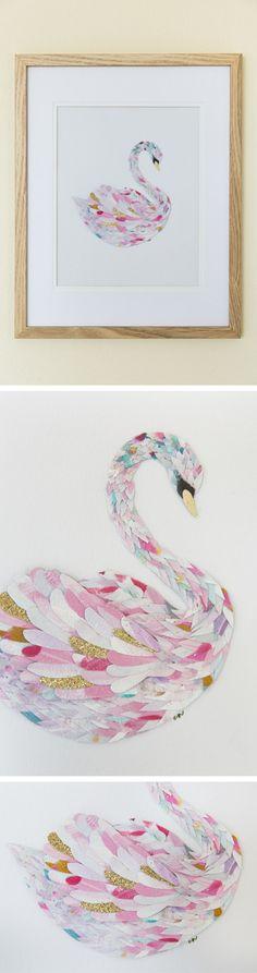 Paper Feather Studio Handmade Paper Art of Birds   Swan, Hummingbird, Owl, Parrot, Flamingo