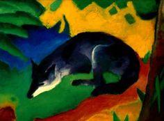 Franz Marc, Blue-Black Fox, 1911.