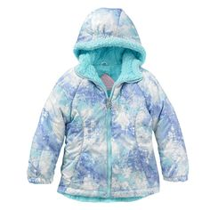 NWT Girls ZeroXposur Connie Patterned Midweight Puffer Jacket - Size 6/6X #ZeroXposur #PufferJacket #Everyday