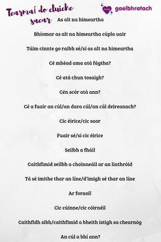 Tearmaí do cluiche sacar Irish Language, Classroom, Learning, Class Room, Irish People, Studying, Teaching, Irish, Squad