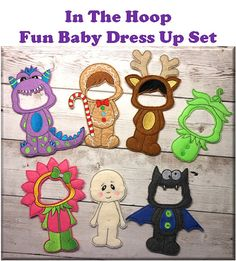 """In The Hoop Baby Dress Up Embroidery Machine Design Set for 5""""x7"""" Hoop"""