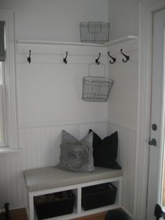 corner nook with coat rack @ modern jane: House Tour