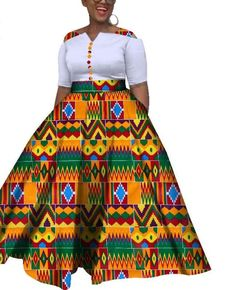 African Colorful Wedding Ankle-Length Dress Item Type: Africa Clothing Material: COTTON Gender: Women Occasion: Party,Date,Wedding,Casual African Dresses For Kids, African Maxi Dresses, Latest African Fashion Dresses, African Print Fashion, African Attire, African Print Dress Designs, Ideias Fashion, Ankle Length, Kitenge