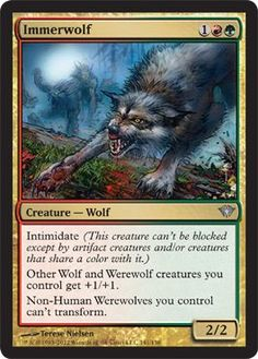 Innistrad played MTG Innistrad Wolf Token Black
