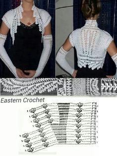 Beautiful crochet bolero