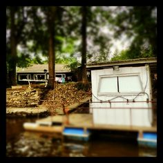 Weekend @instagram #hashtag project: #outtodry - clothes drying, Wolf River - near New London, WI. I like the houseboat too.