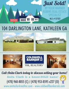 Just SOLD this 3 Bdrm/2 Bath home in the Cardinal Ridge Subdivision, Kathleen GA 31047 (MLS # 127322)
