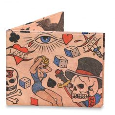 online shopping for mighty wallet Men's Ultra Thin Strong Tyvek Wallet Dynomighty - Tattoo from top store. See new offer for mighty wallet Men's Ultra Thin Strong Tyvek Wallet Dynomighty - Tattoo Tyvek Wallet, Mighty Wallet, Sailor Jerry Tattoos, Tattoo Flash Art, Tattoo Art, Tattoo Paper, American Tattoos, Best Wallet, Leather Bifold Wallet
