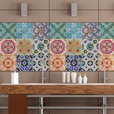 Portuguese Tiles Stickers Maceira Pack Of 16 Tile Decals Art For Walls Kitchen Backsplash Bathroom