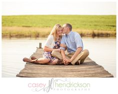 Cute country engagement session on a fishing pier  www.caseyhphotos.com
