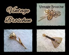 Broschen - *Vintage* Broschen 125-31+32+33 - ein Designerstück von raritaeten-kammerl bei DaWanda