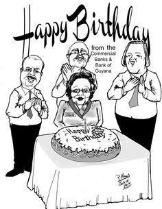 Business cartoon - Bank Birthday July 18, 2014