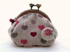 Monedero con boquilla - corazones de La Tienda Vintage de Kima por DaWanda.com