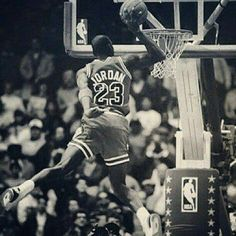 The GOAT as a slam dunk contest participant during all star weekend.