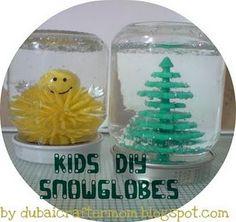snowglobes diy for kids