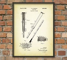 Golf Club Patent Wall Art Poster by QuantumPrints on Etsy