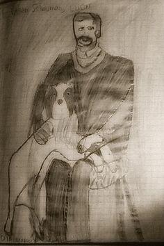 Jesse Ilmari Eronen's drawing of Eugen Schauman, Lucas.