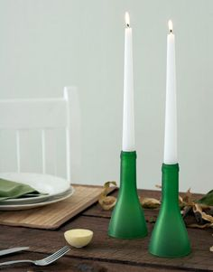 """""""Stick your candles in the freezer for a couple of days prior to using them. The freezing will eliminate most of the messy dripped wax all over your furniture."""" —David Stark, event producer and designer   - HouseBeautiful.com"""