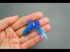 How to Make Tiny Bow - All steps - DIY & Crafts - Handimania
