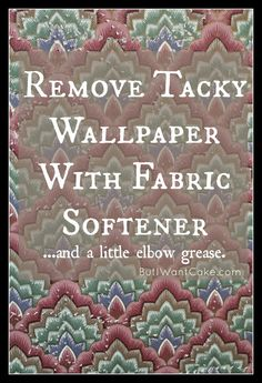 DIY Wallpaper Removal with Fabric Softener |