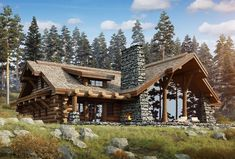 15 increíbles diseños de casas estilo cabaña de troncos para su inspiración - Paradise Home, Log Cabin House Plans, Log Home Plans, Tiny House Cabin, Cabin Style Homes, Log Cabin Homes, Chalet House, Timber House, Cabins And Cottages, Cabin Design