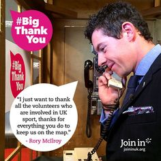 #Golfer Rory McIllroy said a #BigThankYou at BBC Sports Personality of the Year 2014