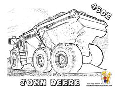 big man construction vehicle from john deere tractor coloring pages printable enjoy coloring
